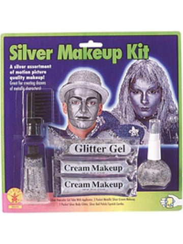 Silver Face Makeup Kit-COSTUMEISH