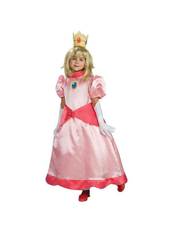 Child Deluxe Princess Peach Costume-COSTUMEISH