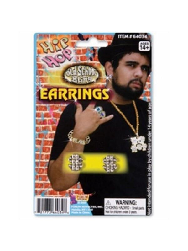 Clip On Dollar Sign Earrings Accessory-COSTUMEISH