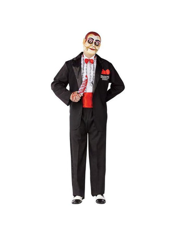 Adult Demented Dummy Ventriloquist Costume-COSTUMEISH