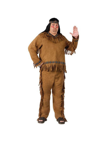 Adult Plus Size Native American Costume