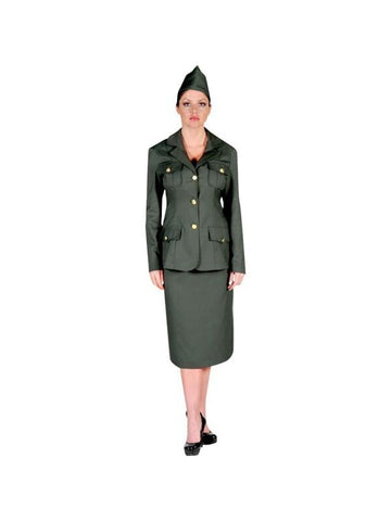 Adult Women's WWI Army Uniform Theater Costume