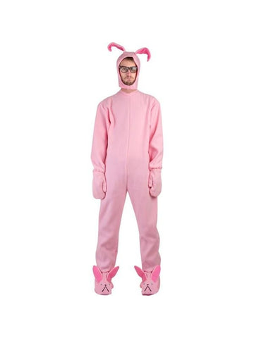 Adult Christmas Pink Rabbit PJ's Costume