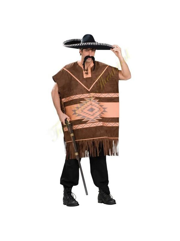 Adult Mexican Poncho Costume-COSTUMEISH