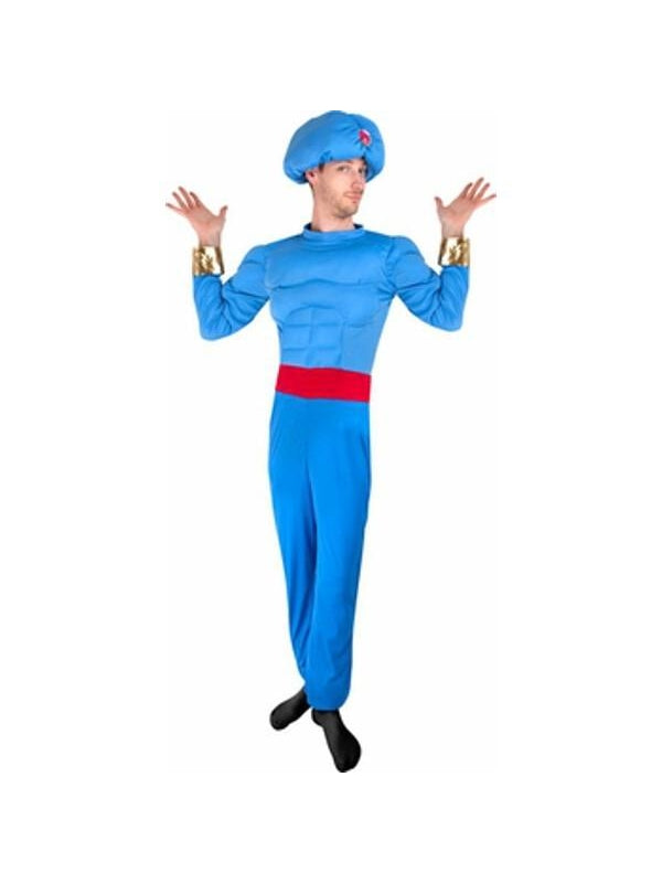 Adult Blue Genie Costume-COSTUMEISH