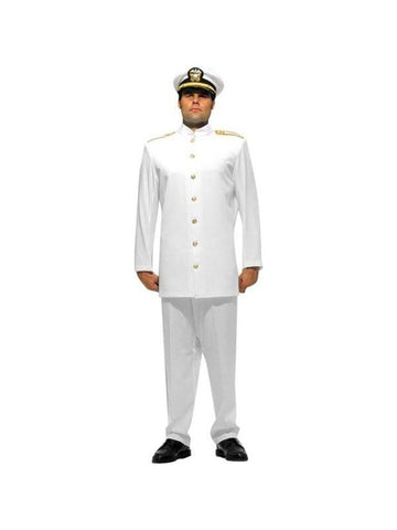 Adult Men's White Navy Officer Theater Costume