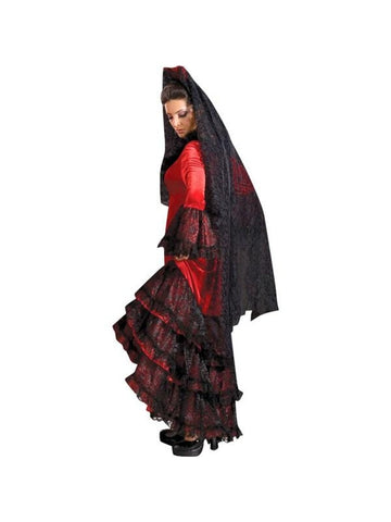 Adult Spanish Dancer Red Theater Costume