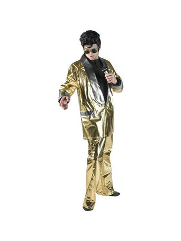 Adult Gold Lame Elvis Theater Costume