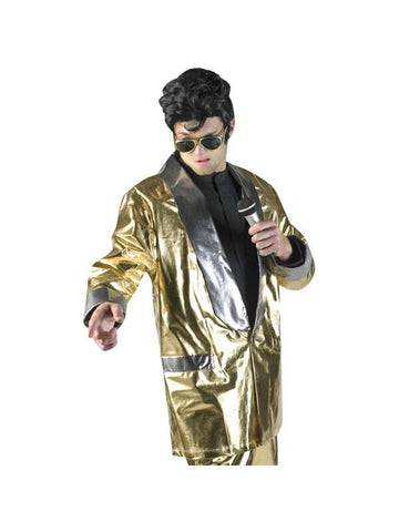 Adult Gold Elvis Jacket Theater Costume