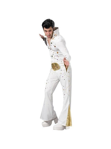 Adult White Elvis Theater Costume
