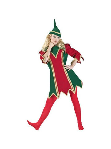 Adult Womens Christmas Elf Theater Costume