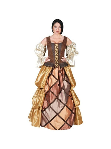 Adult Womens Full Length Pirate Gown Theater Costume