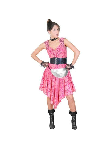 Adult 80's Pink Theater Costume Dress