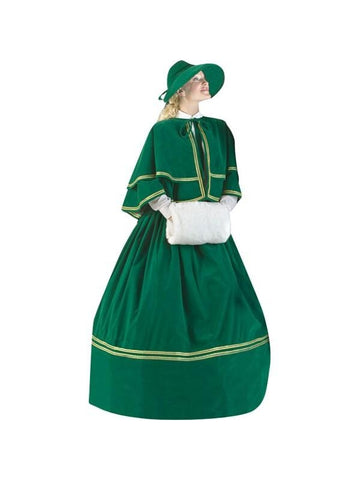 Adult Plus Size Charles Dickens Christmas Carol Dress Theater Costume