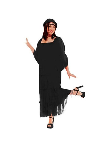 Adult Plus Size Flapper Dress Theater Costume