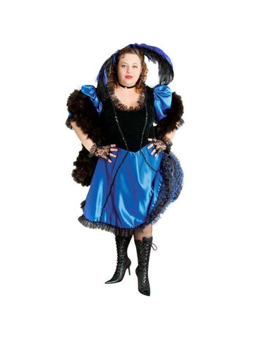 Adult Plus Size Saloon Girl Theater Costume
