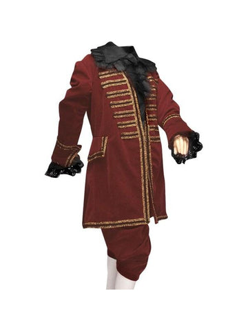 Child Burgundy Victorian Era Boys Theater Costume