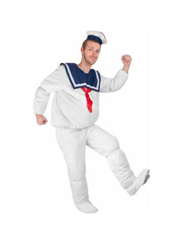 Adult Stay Puft Marshmallow Man Costume-COSTUMEISH