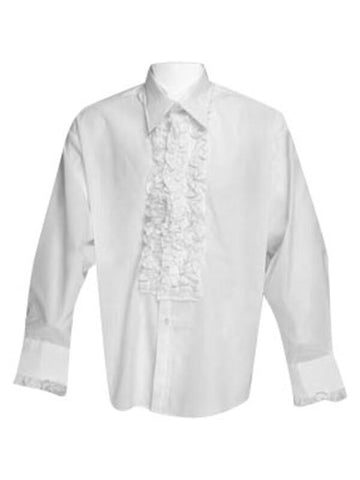 Adult Ruffled Tuxedo Shirt Theater Costume