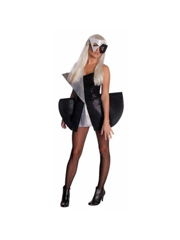 Adult Lady Gaga Black Sequin Dress-COSTUMEISH