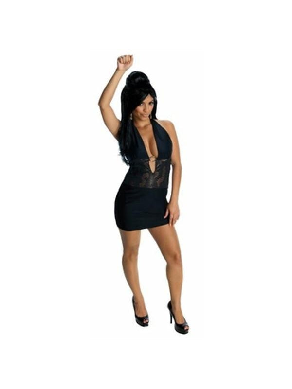 Adult Snooki Black Dress Costume-COSTUMEISH