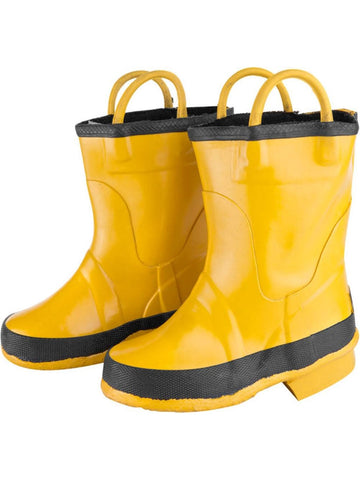 Child Yellow Firefighter Boots