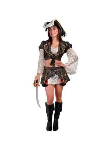 Adult Sexy Caribbean Pirate Costume-COSTUMEISH