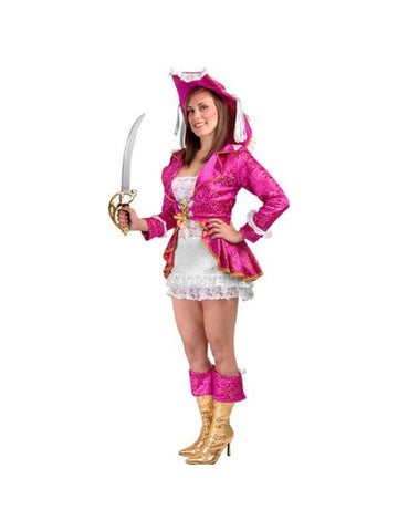 Adult Sexy Pink Pirate Costume-COSTUMEISH