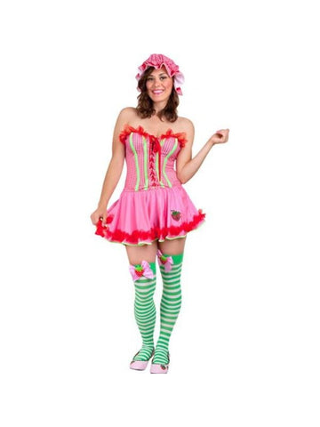 Adult Sexy Strawberry Costume-COSTUMEISH