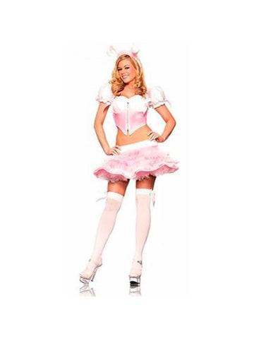 Adult Sexy Pink Bunny Costume-COSTUMEISH
