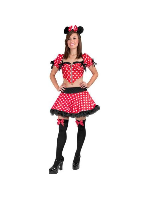 Adult Sexy Minnie Mouse Costume-COSTUMEISH