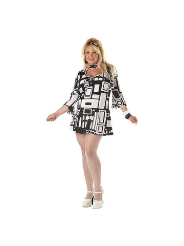 Adult Plus Size Mod Girl Costume-COSTUMEISH
