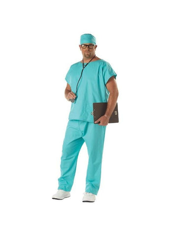 Adult Plus Size Doctor Scrubs Costume