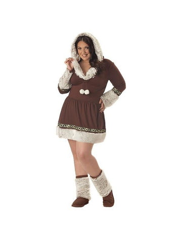Adult Plus Size Eskimo Costume-COSTUMEISH