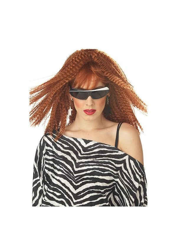 80's Auburn Crimp Wig-COSTUMEISH