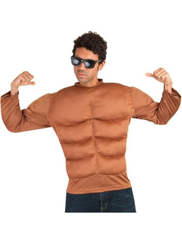 Adult Dark Skin Muscle Chest Costume-COSTUMEISH