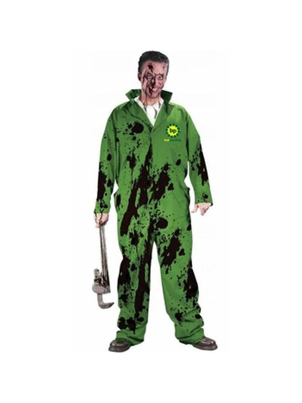 Adult Funny Oil Spill Costume-COSTUMEISH