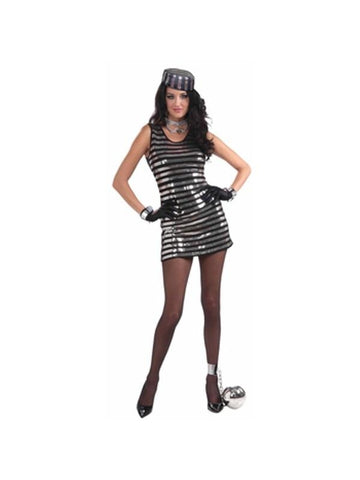 Adult Sexy Sequined Prisoner Costume