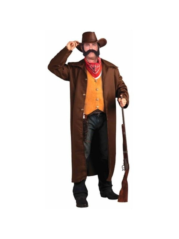 Adult Plus Size Old West Gunfighter Costume-COSTUMEISH