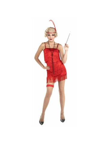 Adult Flirty Flapper 20's Dress-COSTUMEISH