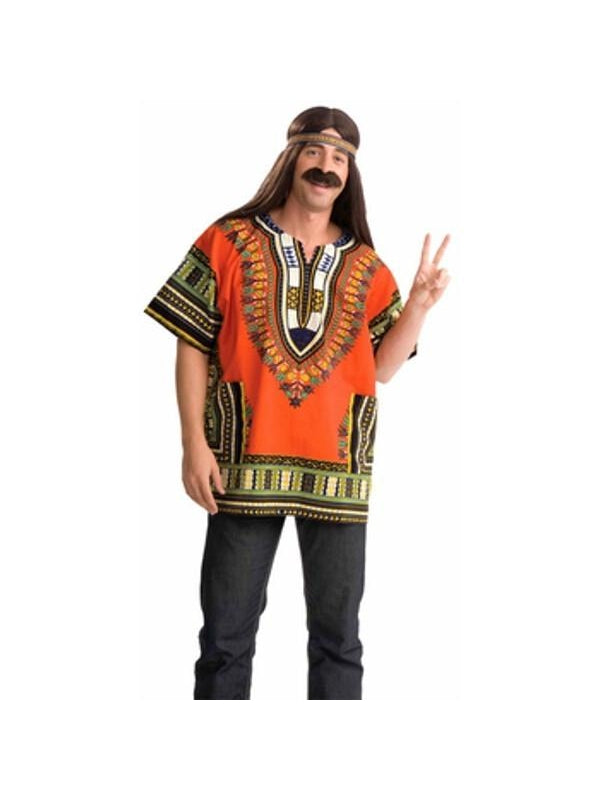 Adult Hippie Dashiki Shirt Costume-COSTUMEISH
