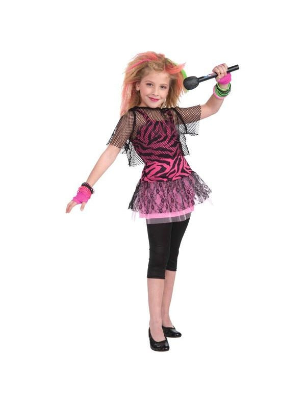 Childs 80's Rocker Chick Costume-COSTUMEISH