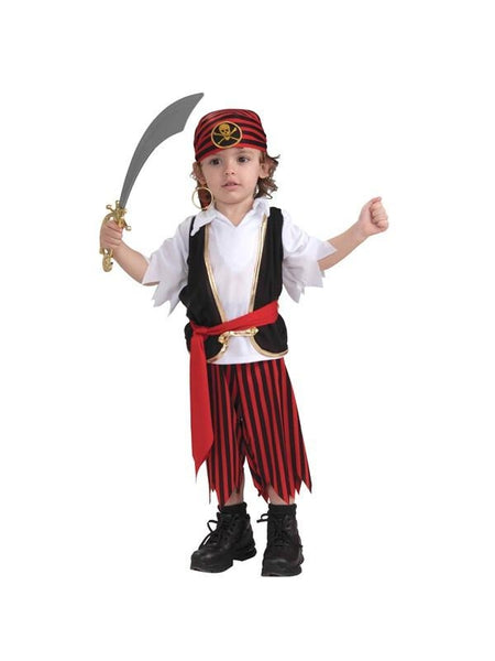 Toddler pirate boy costume costumeish cheap adult for Easy toddler boy halloween costumes
