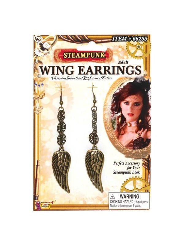 Adult Steampunk Wing Earrings-COSTUMEISH