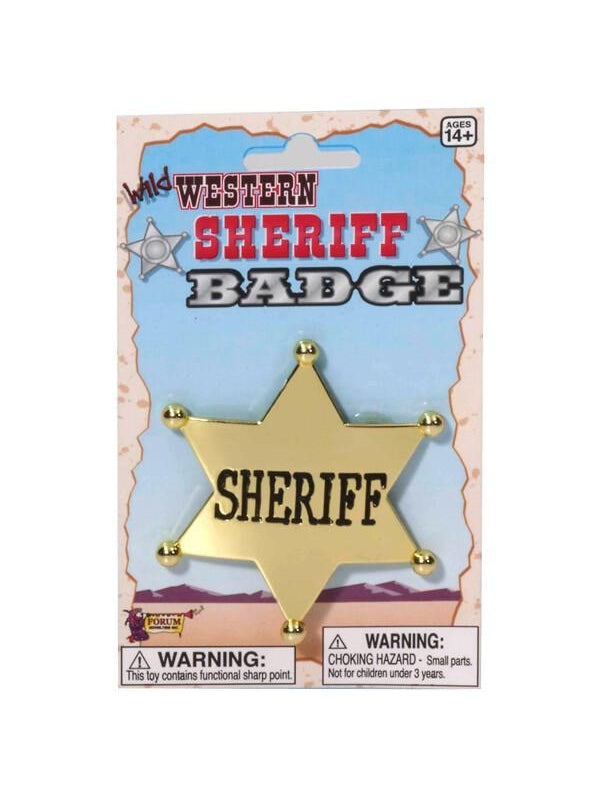 Old West Sheriff Badge-COSTUMEISH