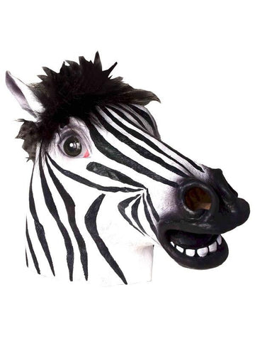 Adult Deluxe Zebra Mask
