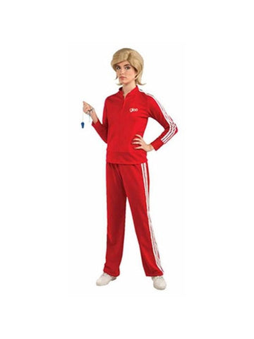 Adult Red Track Suit Glee Costume-COSTUMEISH