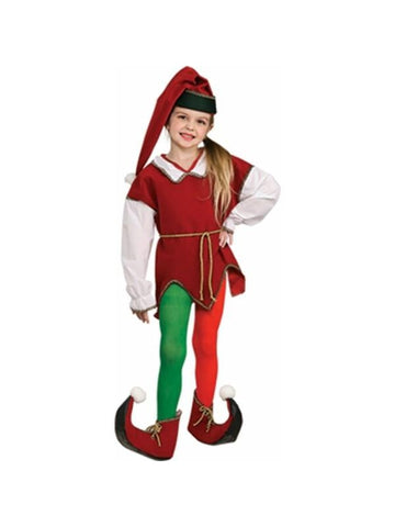 Child's Red and Green Elf Tights-COSTUMEISH
