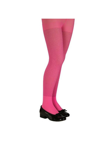 Child's Pink Glitter Tights-COSTUMEISH