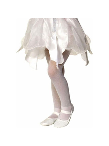 Child's White Sparkle Tights